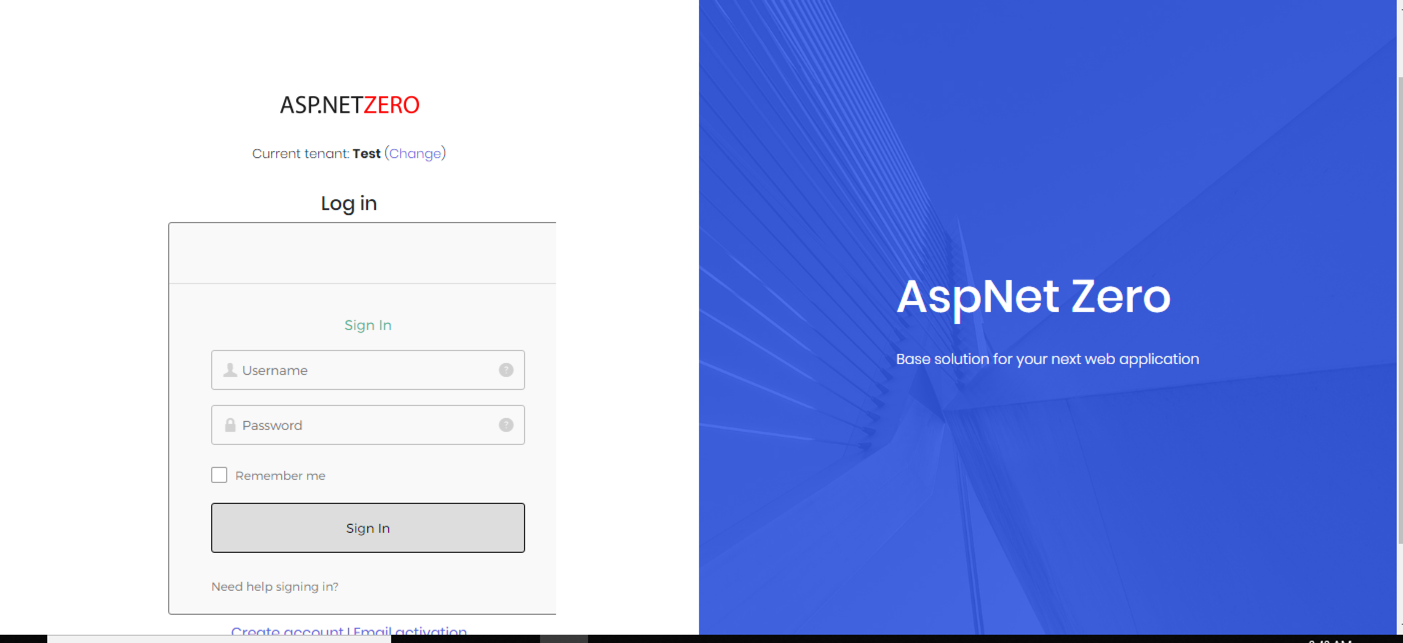 OpenIdConnect using okta widget #5763 | ASP NET Zero Support