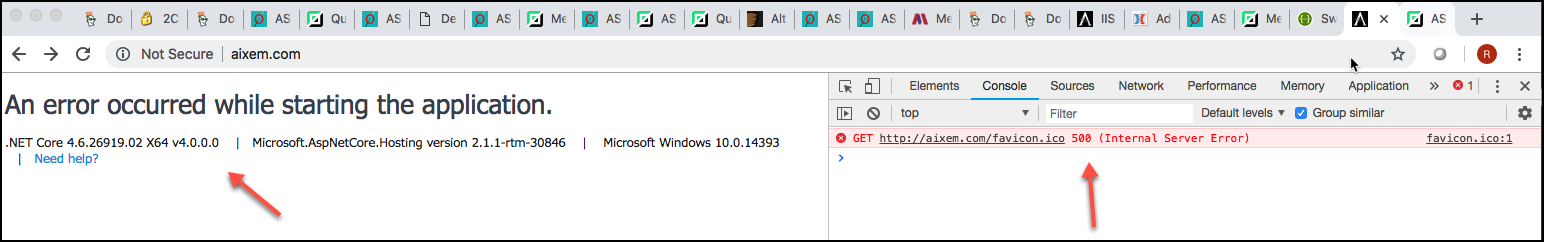 Unable to setup and run in IIS server 2016 #5740 | ASP NET