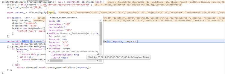 Scheduler date issue (Angular) #6773 | ASP NET Zero Support